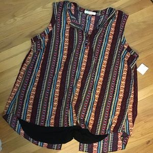 NWT Everleigh printed blouse 3X